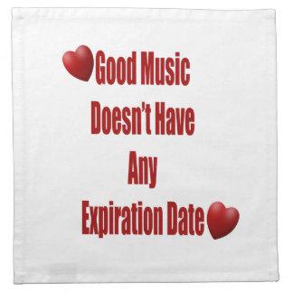 La buena música no expira cocina o cena servilletas de papel
