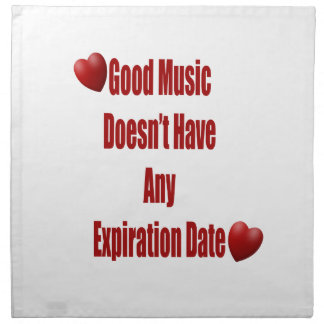 La buena música no expira cocina o cena servilleta imprimida