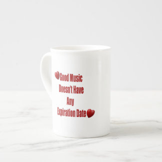 La buena música no expira taza de la taza de café taza de porcelana