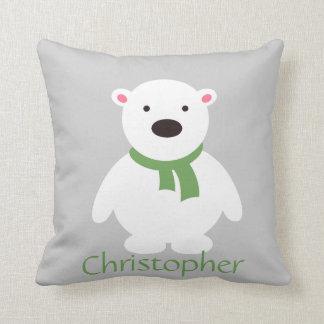 La bufanda verde polar linda del oso w, añade almohadas