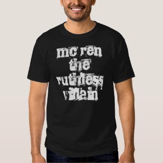 la bujía métrica ren la camiseta despiadada del ma playera
