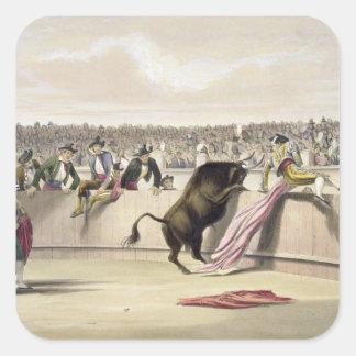 La Bull que salta las barreras, 1865 (litho del Pegatina Cuadrada