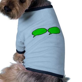 La burbuja 2 de la palabra salió verde de los rega ropa perro