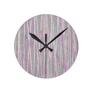 La burbuja raya suavidad reloj redondo mediano