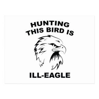 La búsqueda de este pájaro es Enfermo-Eagle Tarjetas Postales