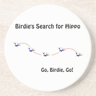 La búsqueda del chirrido para el hipopótamo posavasos personalizados