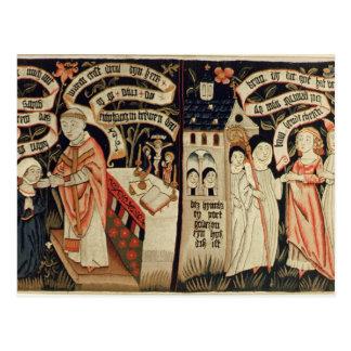 La búsqueda después de la verdad, alemán, c.1490 postal