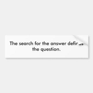 La búsqueda para la respuesta define la pregunta etiqueta de parachoque