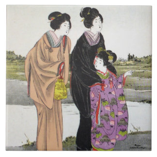 La búsqueda - serie-Japón-teja de los homenajes Azulejo Cuadrado Grande