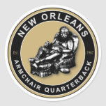 La BUTACA QB - New Orleans Etiquetas Redondas