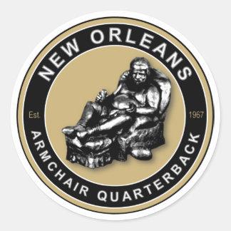La BUTACA QB - New Orleans Pegatina Redonda