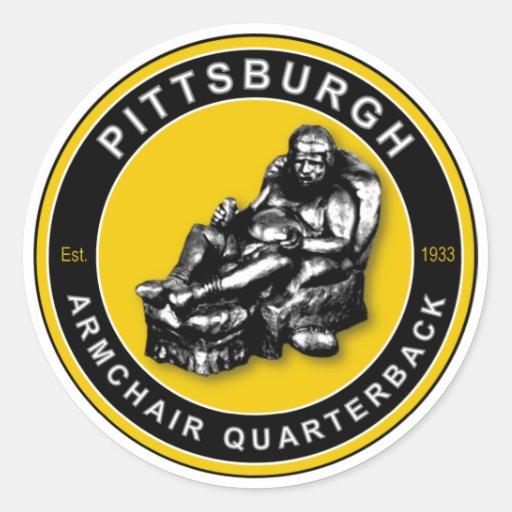 La BUTACA QB - Pittsburgh Pegatinas Redondas