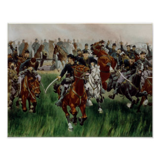 La caballería, 1895 poster