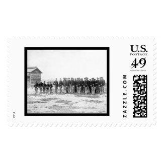 La caballería de general Grant escolta 1865