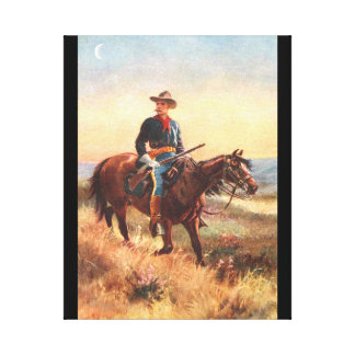 La caballería explora impresión en lienzo