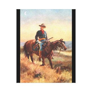 La caballería explora lienzo envuelto para galerías