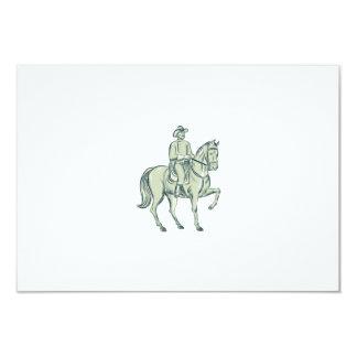 """La caballería manda la aguafuerte del caballo de invitación 3.5"""" x 5"""""""