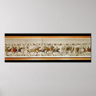 La caballería normanda ataca el inglés póster