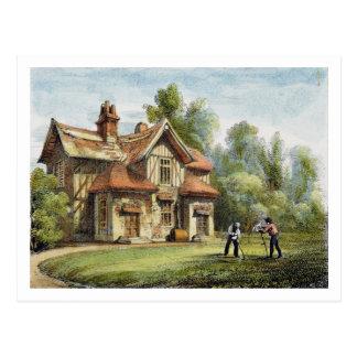 La cabaña de la reina, Richmond cultiva un huerto, Tarjeta Postal