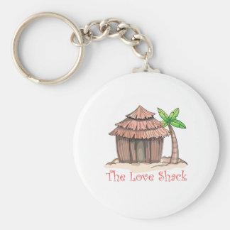 La cabaña del amor llavero redondo tipo pin
