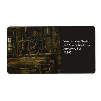 La cabaña del tejedor de Vincent van Gogh Etiqueta De Envío