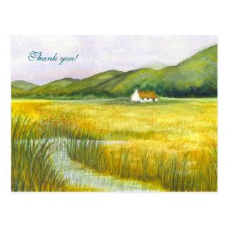 """¡La """"cabaña en los pantanos"""" le agradece! Postal"""