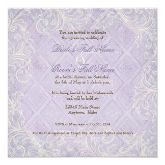 La cabaña floral por el mar descasca el boda con invitación 13,3 cm x 13,3cm