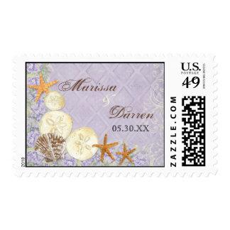La cabaña floral por el mar descasca el boda con sellos postales