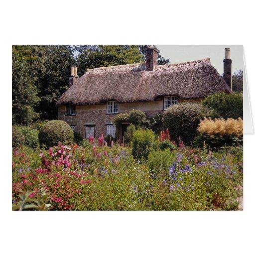 La cabaña roja de Thomas Hardy, flor de Dorset, In Tarjeton