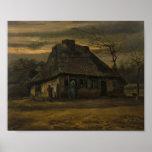 La cabaña, Vincent van Gogh Poster
