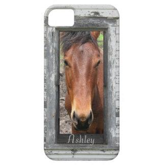 La cabeza de caballo enmarcada rústica, iPhone 5 fundas