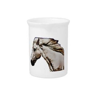 La cabeza de caballo jarra de beber