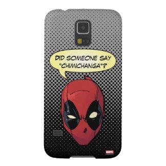 La cabeza de Deadpool Fundas De Galaxy S5