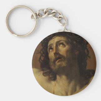 La cabeza de Guido Reni- de Cristo coronó con las  Llavero