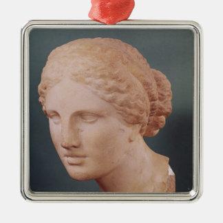 La cabeza de Kauffmann, cabeza del Aphrodite Adorno Navideño Cuadrado De Metal