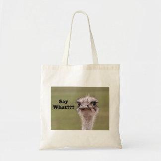 La cabeza de la avestruz dice qué foto bolsa
