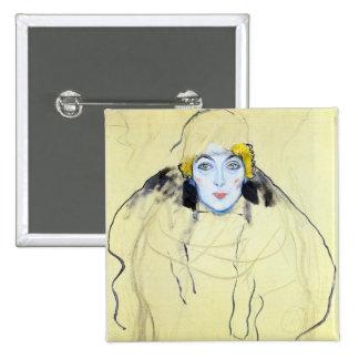 La cabeza de la mujer de Gustavo Klimt Pin