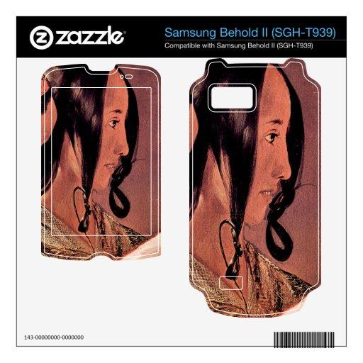 La cabeza de la mujer en perfil de Georges de La T Samsung Behold II Calcomanía