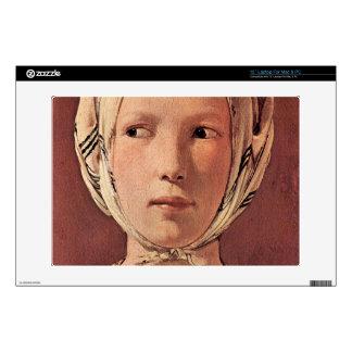 La cabeza de la mujer frontal por Georges de La To Calcomanía Para Portátil