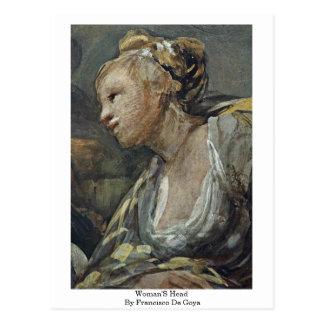 La cabeza de las mujeres de Francisco De Goya Tarjeta Postal