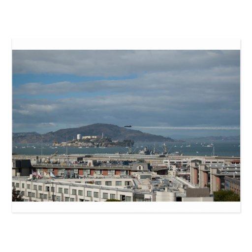 La cabeza de los ángeles azules a Alcatraz.jpg Postal