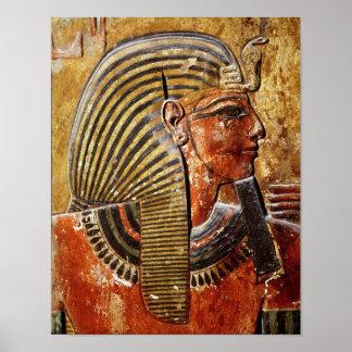 La cabeza de Seti I de la tumba de Seti Póster