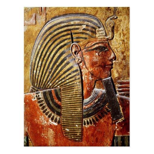 La cabeza de Seti I de la tumba de Seti Tarjetas Postales