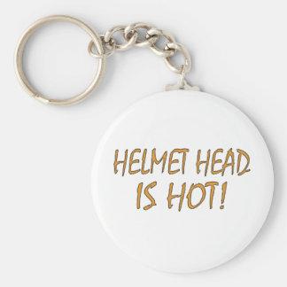 La cabeza del casco es caliente llaveros