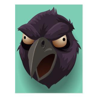La cabeza del cuervo púrpura postal