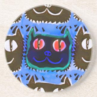 la cabeza del gato azul tejó lo contrario del posavasos manualidades