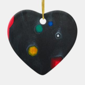 La cabeza del inquiridor magnífico (ismo adorno navideño de cerámica en forma de corazón