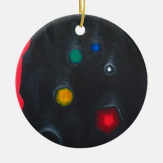 La cabeza del inquiridor magnífico (ismo adorno navideño redondo de cerámica
