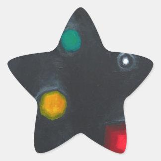La cabeza del inquiridor magnífico (ismo pegatina en forma de estrella