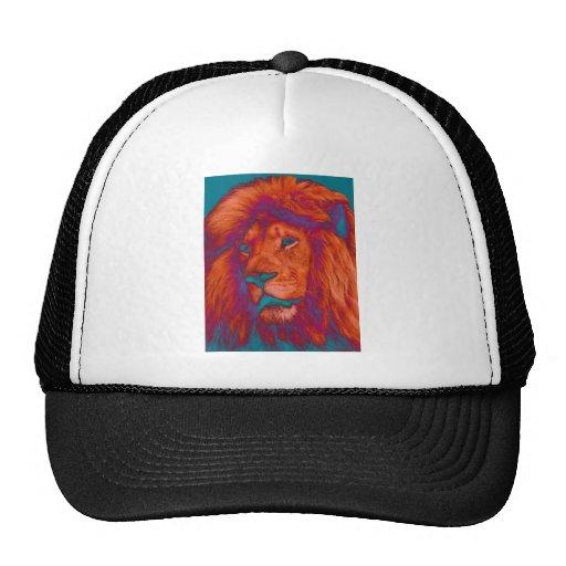 La cabeza del león colorido gorros bordados